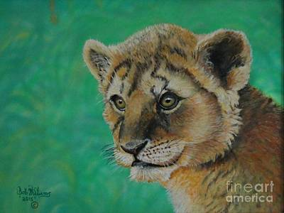 Painting - Leonidas   The Young Lion King by Bob Williams