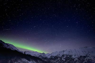 Photograph - Leonids And Aurora by Matt Skinner