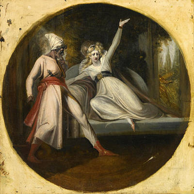 Painting - Leonore Discovering The Dagger Left By Alonzo by Henry Fuseli