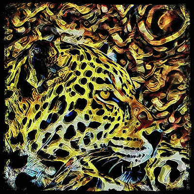 Painting - Leopard Abstract  by David Mckinney