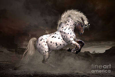 Spot Digital Art - Leopard Appaloosa Shiloh by Shanina Conway