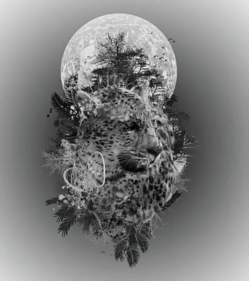 Abstract Nature Digital Art - Leopard by Bekim Art
