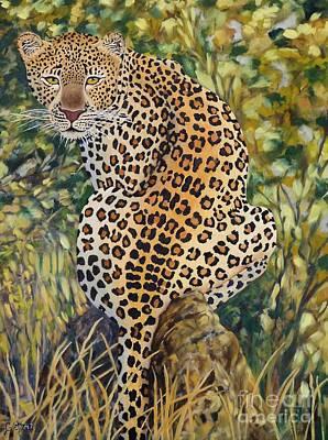Leopard Art Print by Caroline Street