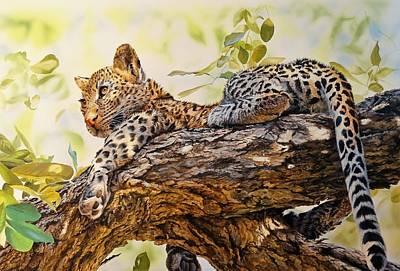 Wall Art - Painting - Leopard Cub by Julian Wheat