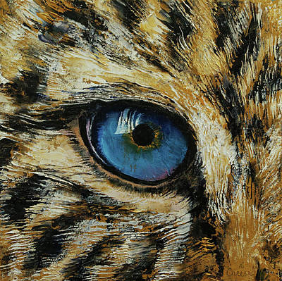 Abstract Realism Painting - Leopard Eye by Michael Creese