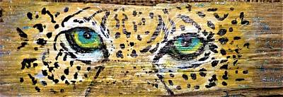 Mixed Media - Leopard Eyes by Ann Michelle Swadener