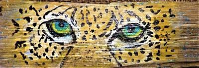 Mixed Media - Leopard Eyes by Ann Michelle Swadener