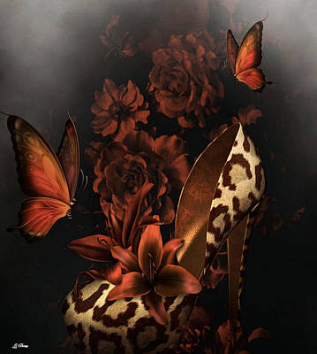 Tiger Lily Mixed Media - Leopard Heels by G Berry