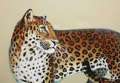 Painting - Leopard by Lin Petershagen