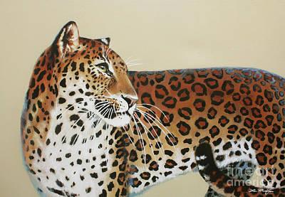 Painting - Leopard by Lin Petershagen