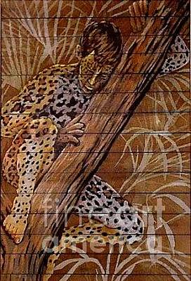 Painting - Leopard Longings by Robert D McBain