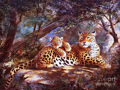 Leopard Love Art Print by Silvia  Duran
