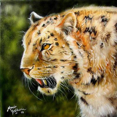 Target Threshold Nature - Leopard by Marcia Baldwin