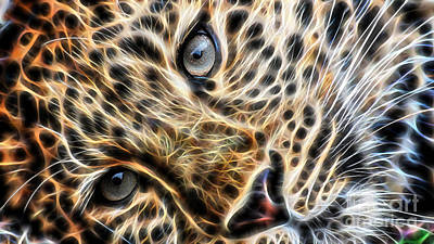 Leopard Mixed Media - Leopard by Marvin Blaine