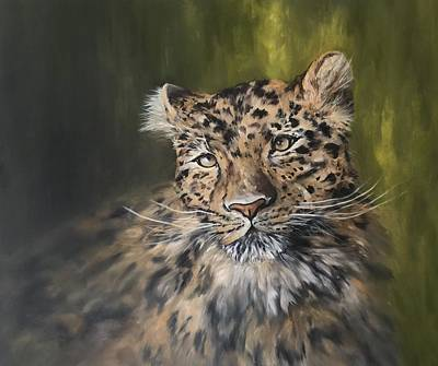 Painting - Leopard Relaxing by Jean Walker