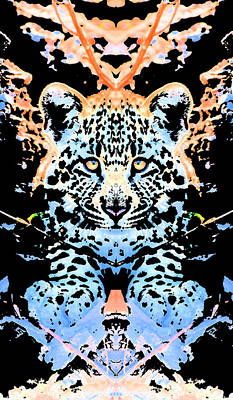 Nature Photograph - Leopard Rorschach by Max Waugh