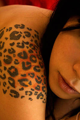 Leopard Tattoo Close Up Print by DankLilli Art And Photography