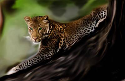 Digital Art - Leopard by Vic Weiford