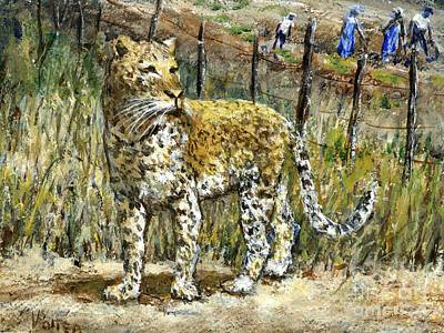 Painting - Leopard by Virginia Potter