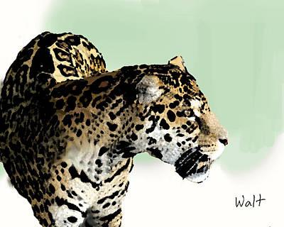 Leopard Art Print by Walter Chamberlain