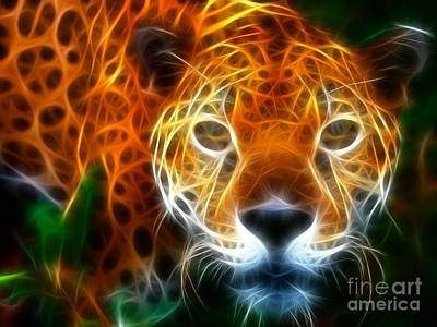 Leopard Watching At His Prey Art Print