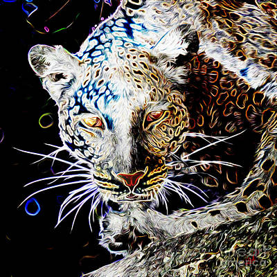 Digital Art - Leopard by Zedi