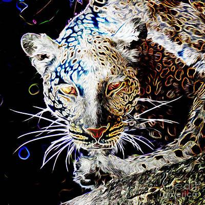 Digital Art - Leopard by Zedi