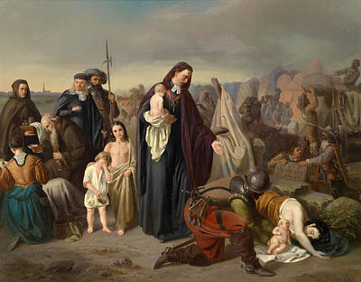 Liberation Painting - Leopold Karl Graf Von Kollonitsch Bishop Of Wiener Neustadt, In The Turkish Camp After The Liberatio by Vincenz Melka