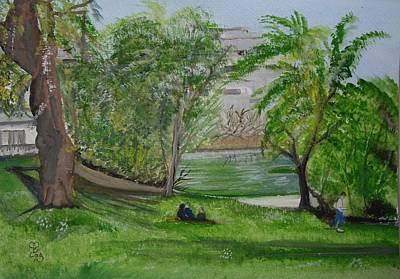 Painting - Leopold Park Brussels by Carole Robins