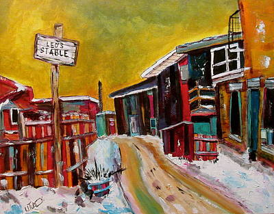 Painting - Leo's Stables Griffintown by Michael Litvack