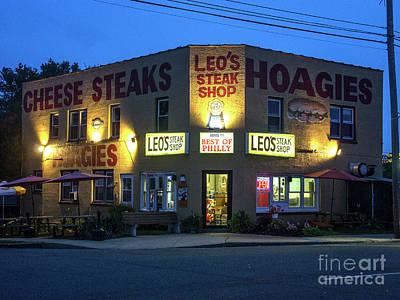 Minimalist Movie Quotes - Leos Steak Shop by David Nicholson