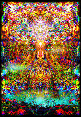 Art Print featuring the digital art Leototem by Jalai Lama