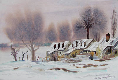 Leper Colony In Kashmir Winter Original by Tim Houghton