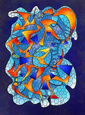 Leptoniussa V2 - Digital  Abstract Art Print
