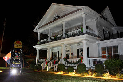 Photograph - Leroy Springs House At Christmas 3 by Joseph C Hinson Photography