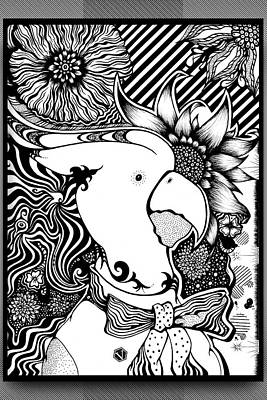 Sunflowers Drawings - Leroy by Vincent Lara