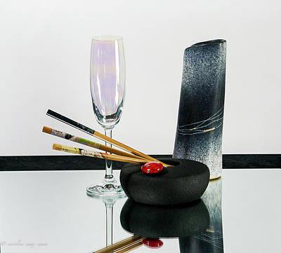 Photograph - Les 3 Baguettes #a by Karo Evans