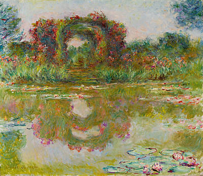 Painting - Les Arceaux De Roses. Giverny by Claude Monet