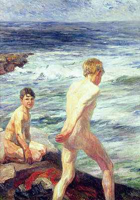 Bathing Painting - Les Baigneurs by Jean Delvin