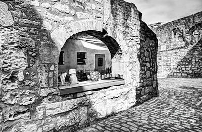 Photograph - Les Baux De Provence 3 Bw by Mel Steinhauer