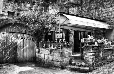 Womens Photograph - Les Baux De Provence 5 Bw by Mel Steinhauer