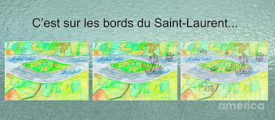 Terra Mixed Media - C'est Sur Les Bords Du Saint-laurent Mug Shot by Dominique Fortier