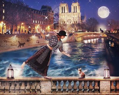 Photograph - Les Chats De Paris by Diana Haronis