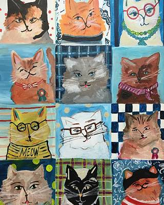 Painting - Les Chats by Mindy Carpenter