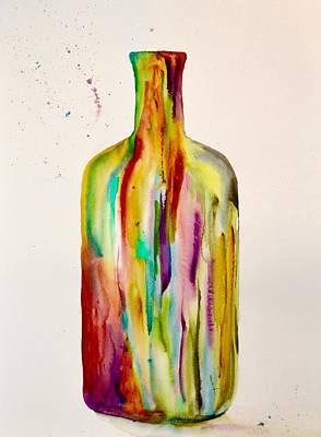 Drink Me Painting - Les Couleurs De L' Eau De La Vie by Beverley Harper Tinsley