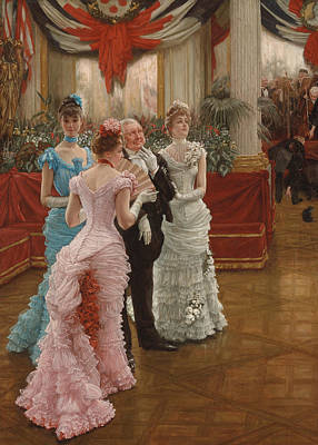 Stylish Painting - Les Demoiselles De Province by James Jacques Joseph Tissot
