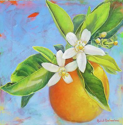 Painting - Les Deux Fleurs by Muriel Dolemieux
