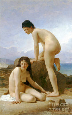 Photograph - Les Deux Baigneuses 1884 by Padre Art