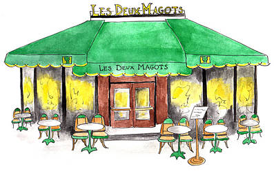 Painting - Les Deux Magots by Anna Elkins