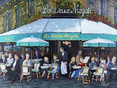 Painting - Les Deux Magots by Mike Patterson